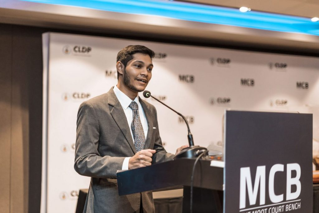 Sulaiman Rameez, Presiding Partner at the Moot Court Bench